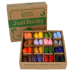 Thanks to a unique pebble shape made especially for small hands, Crayon Rocks help develop kids' fine-motor skills.  ($9.25 for 16)