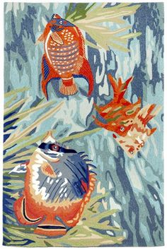 Trans Ocean Imports Liora Manne - Ravella Tropical Fish Rugs   Rugs Direct