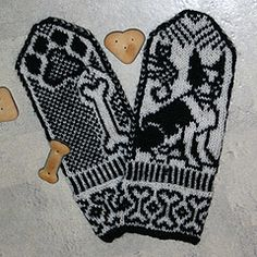 Ravelry: Dog Mittens pattern by Jorid Linvik