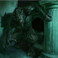 Werewolf, Antonio J. Dark Fantasy Art, Fantasy Artwork, Dark Art, Fantasy Monster, Monster Art, Fantasy Creatures, Mythical Creatures, Werewolf Art, Fantasy Beasts