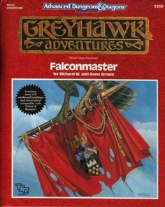 "WGA2 ""Falconmaster"" AD&D 2nd Edition, 1990, TSR9289... WGA ""World of Greyhawk Adventures"", 2 of 4"