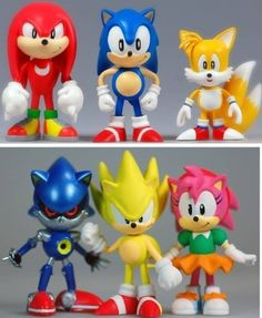 "First 4 Figures Sonic the Hedgehog Mini Figure 6 Pack Collection by First 4 Figures. $36.89. Figures are 2"" tall. Includes Sonic, Tails, Knuckles, Super Sonic, Amy and Metal Sonic. Six styles in a display box. Vinyl figures. Imported from Japan. From the Manufacturer Imported from Japan. Sonic the Hedgehog has been racing against his friends and foes for twenty years on video game systems from the original SEGA Genesis to the current Nintendo Wii and now he's fo..."