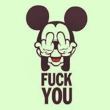 Resultado de imagem para mickey mouse giving the finger tumblr