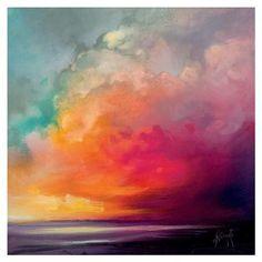ACHICA | The Art Group - Scott Naismith (Sunset Cumulus) , Canvas Print, 85x85cm #abstractart