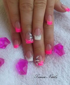 130 French Nails Ideas Sweet 130 French Nails Id+ French Manicure Nails, French Tip Nails, Manicures, French Tips, Nail Tip Designs, French Nail Designs, Nails Design, Art Designs, Design Design