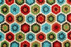 Vintage Vibe Crochet Hexagon Afghan | AllFreeCrochetAfghanPatterns.com