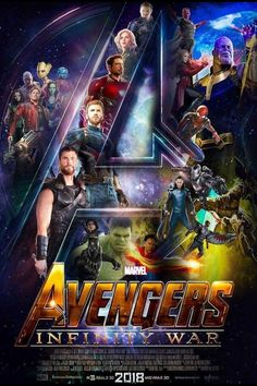 Infinity War Movie Poster 2018 Featuring the Avengers vs Thanos and the Black Order, Check Out Where All The Infinity Stones are to Start Infinity War - DigitalEntertainmentReview.com