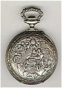 Rare Antique Silver Car Pocket Watch