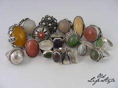 Pierścioneki PRL/ silver rings PRL/ polish vintage jewellery/ polish PRL…