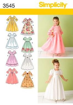 Simplicity 3545 Child Special Occasion Dresses - *darling!* <3 <3