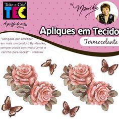 Aplique em Tecido By Mamiko - Rosas Vintage - Bazar Horizonte