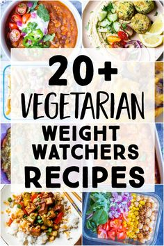 I've rounded up my favorite healthy and delicious Vegetarian Weight Watchers Recipes! All recipes were created with weight watchers points in mind so they will make your life so much easier! Lots of vegan and gluten free options too! Ww Recipes, Veggie Recipes, Dinner Recipes, Healthy Recipes, Dinner Ideas, Vegetarian Recipes For Diabetics, Health Food Recipes, Lentil Recipes, Vegetarian Dinners