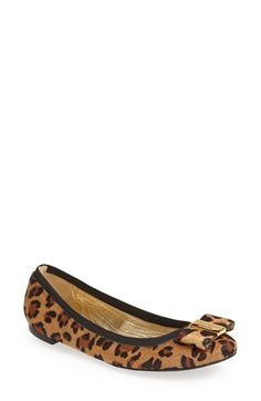 kate spade new york 'tock' calf hair flat (Women) available at #Nordstrom