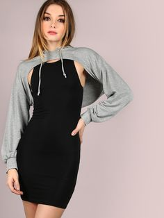 Cut+Out+Cropped+Hoodie+HEATHER+GREY+19.00