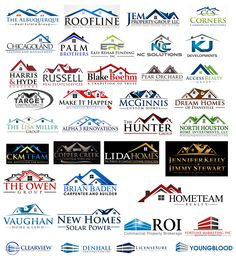 Most Common Logo Shapes That Should Be Avoided  7. Roof Construction Logo