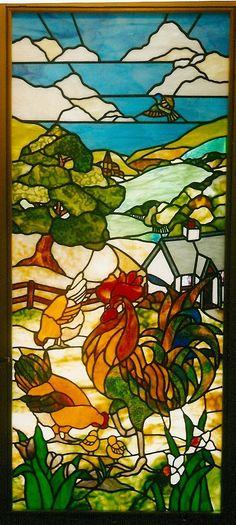 Rooster door panel. 1.60m high x 0.6m wide.