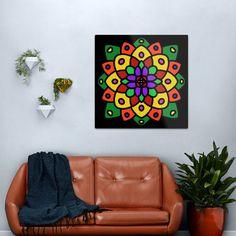 """Flower of Life Mandala"" Metal Print by Pultzar   Redbubble"