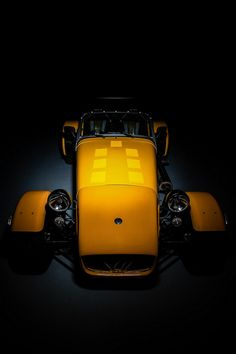 Yellow Caterham Super 7