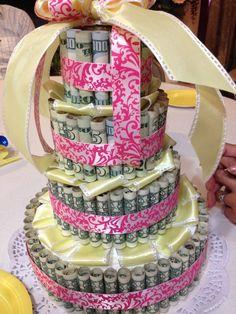 Money cake... Everyone favorite flavors $$$ 10 Birthday Cake, Birthday Goals, Birthday Pins, Birthday Candy, 14th Birthday, Pink Birthday, Sweet 16 Birthday, Birthday Stuff, 16th Birthday Ideas For Girls