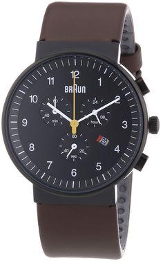 Braun Unisex-Armbanduhr BN0035BKBRG Chronograph Quarz Leder BN0035BKBRG