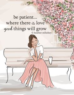 Patience: All in God's time. I realize this is true. But only if something good was planted. If no one sows thier seeds in your garden of love, nothing grows. Don't wait for something to grow that was never planted.