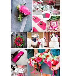 Decoração do casamento cinza e rosa