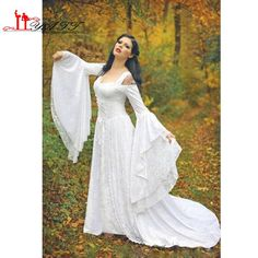 Cheap Fantasy medievale fata Lace Up Abiti da sera scollatura campana maniche  lunghe Una linea corte 4bbb977f238