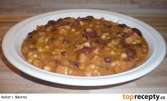 Fazole se sýrem a kabanosem Chana Masala, Cheeseburger Chowder, Quinoa, Chili, Beans, Soup, Vegetables, Ethnic Recipes, Bulgur