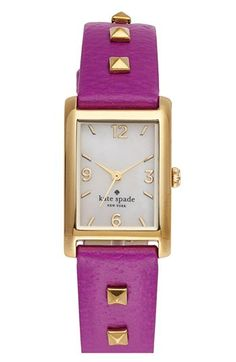 'cooper' studded leather strap watch