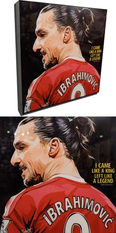 """Zlatan Ibrahimović Poster Plaque with Quote """"I came like a king and left like a legend"""" Zlatan Quotes, World Cup Draw, Uefa Football, King A, Pop Culture, Fifa, Playstation, Manchester, Artist"""