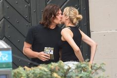 "Diane Kruger And Norman Reedus Show Some PDA Diane Kruger and Norman Reedus share a kiss while on set of Kruger's upcoming spy film ""355"" in Paris."