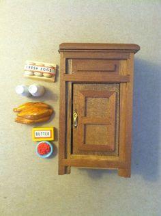 Vintage Doll house Miniature Shackman old fashioned icebox #Shackman