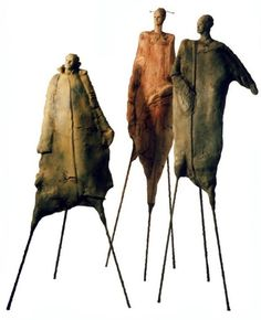 Accueil-- kind of creepy but kind of cool and very interesting Sculptures Céramiques, Art Sculpture, Abstract Sculpture, Ceramic Figures, Ceramic Art, Contemporary Sculpture, Contemporary Art, Arte Tribal, Alberto Giacometti