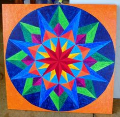 2' x 2' hand painted barn quilt by deb from barnquiltsbydeborah.com