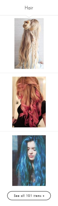 """""""Hair"""" by moonlight-princess-of-the-stars ❤ liked on Polyvore featuring beauty products, haircare, hair styling tools, hair, hair styles, hairstyles, beauty, pictures, photos and fillers"""