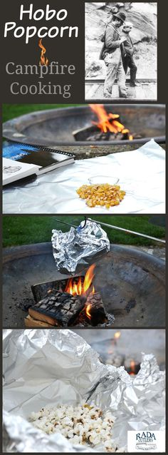 Food is always fun to cook over a fire, whether it be in your backyard or on a camping trip.