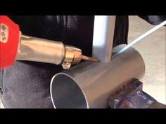 TUTORIAL DE FONTANERIA, como trabajar el PVC con un soplete de aire cali...