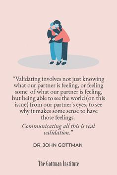 How do you validate your partner's feelings during conflict? Validation doesn't mean you agree, but that you can understand even a small part of your partner's experience. It's about you both feeling understood and, ultimately, loved. Discover communication and conflict resolution tools to boost your connection with Gottman Relationship Coach programs today. Gottman Institute, John Gottman, Relationship Coach, Conflict Resolution, Nice To Meet, Love Story, Life Is Good, Communication, Connection
