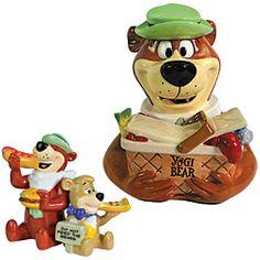 Yogi Bear Cookie Jar & Shaker Set
