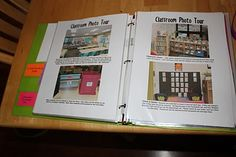 Sub Folder Ideas - like the photo tour as the entrance to a classroom can be such a blurr...