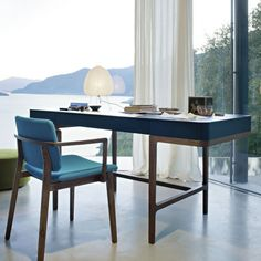 Contemporary wood writing desk VICTOR by Roberto Lazzeroni LEMA Home