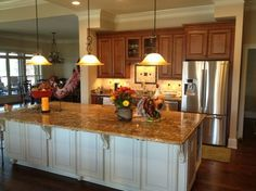 Kitchen Island Different Color Than Cabinets timberlake maple cognac | shea homes design studio | kitchen