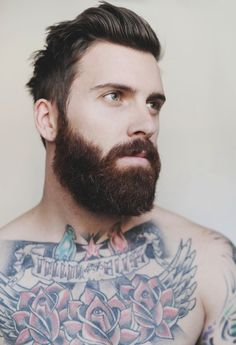 Beard and tattoos