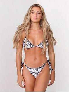 [58% OFF] [POPULAR] 2020 Jessica Stockstill X ZAFUL Leopard Snakeskin Whip Stitch Tie String Bikini Swimsuit In MULTI-A   ZAFUL United Kingdom High Cut Bikini, Push Up Bikini, Sexy Bikini, Bikini Set, Bikini Swimsuit, Bikini For Women, Bikini Girls, Swimsuit Material, Bikini Types