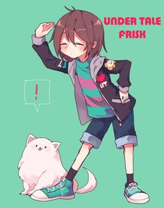 Frisk and Annoying Dog by しすこ (@sisuko1016) | Twitter