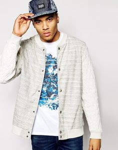 River Island Jersey Bomber with Quilting
