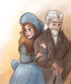Cosette and Jean Valjean: