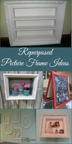Repurposed Picture Frame Ideas