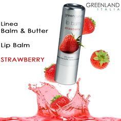 Nuovissimo #lipbalm fragranza #fragola.  Dalla linea #balm, è disponibile sullo shop #online di #GreenlandItalia