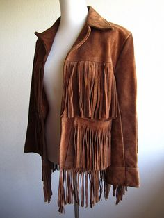 hendrix  fringe and suede vintage 70s leather by vintagegrime, $100.00